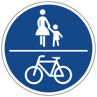 Common walking and cycling path
