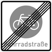 End of a cycle road