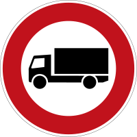 Motor vehicles over 3.5 t prohibited