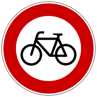 Prohibition of bicycle traffic