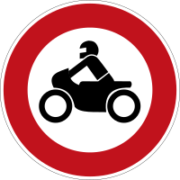 motorcycles prohibited