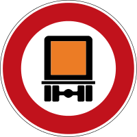 Prohibition on motor vehicles carrying dangerous goods that are subject to compulsory registration