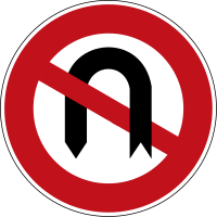 Prohibition of turning