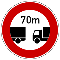 Deviating from the specified minimum distance prohibited
