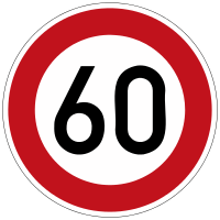 Permissible maximum speed