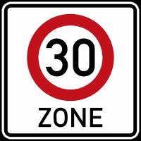 Start of a Tempo 30 zone