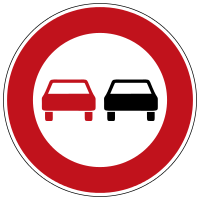 Overtaking prohibited for all vehicles