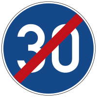 End of the prescribed minimum speed