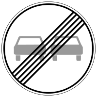 End of overtaking restriction for all vehicles