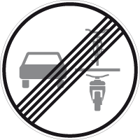 End of the prohibition on overtaking single-track vehicles for multi-track motor vehicles and motorcycles with sidecars