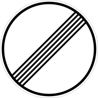 The end of all prohibitions on a stretch of road