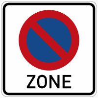 Start of a zone