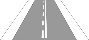 One-sided lane borderline