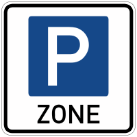 Beginning of a parking zone