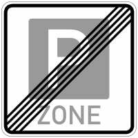 End of a parking zone