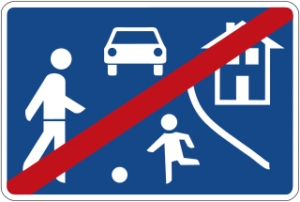 End of a traffic-calmed area