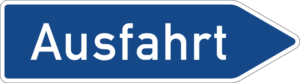 Exit from the Autobahn