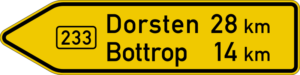 On federal roads (Bundesstraße)