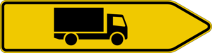 Advance direction signs for certain types of traffic