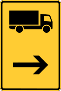 Signposts for certain types of traffic