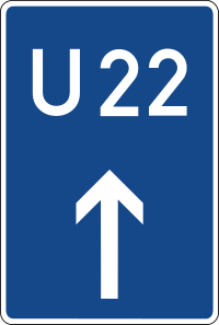 Diversion for autobahn traffic when required